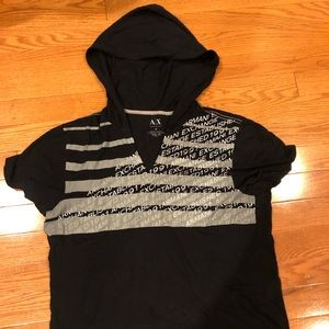 Armani Exchange t shirt with hood